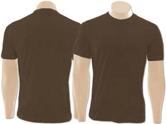 Camiseta marrom 100% algodão infantil juvenil e adulto