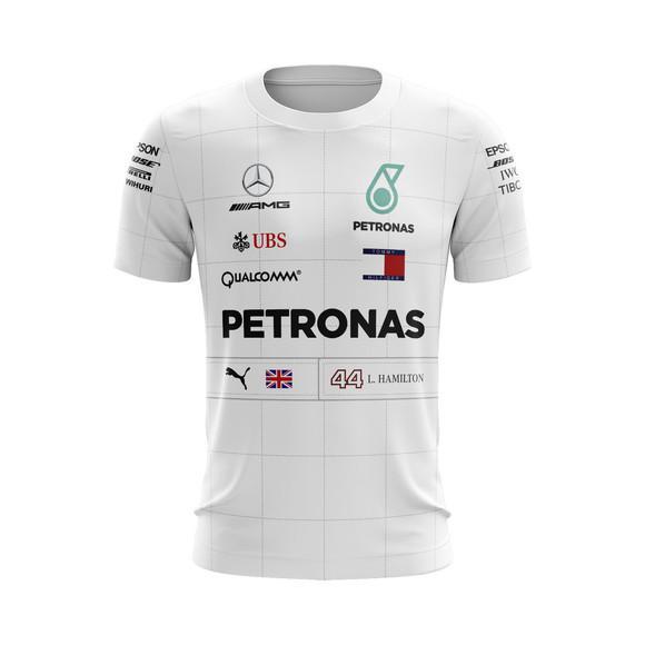 Camiseta mercedes benz amg petronas formula 1 f1 hamilton
