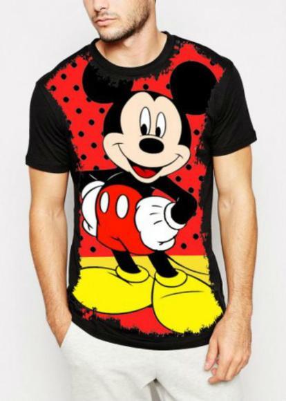 Camiseta mickey disney masculina