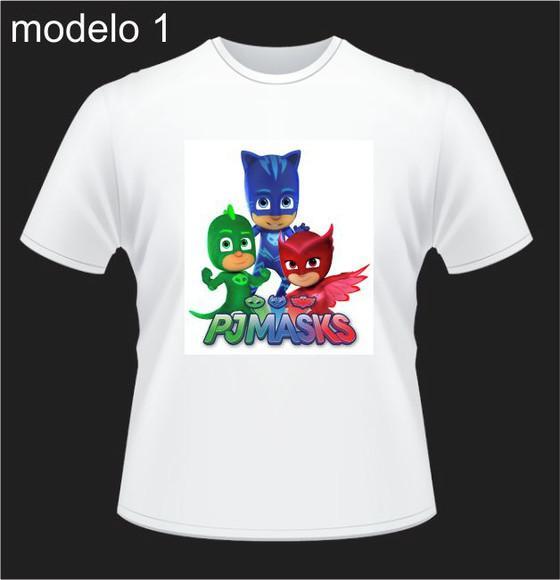 Camiseta personalizada pj masks