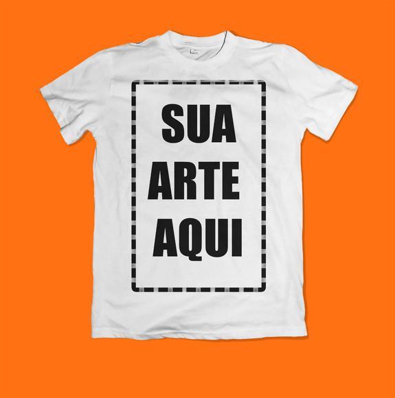 Camiseta personalizada sua arte promoção
