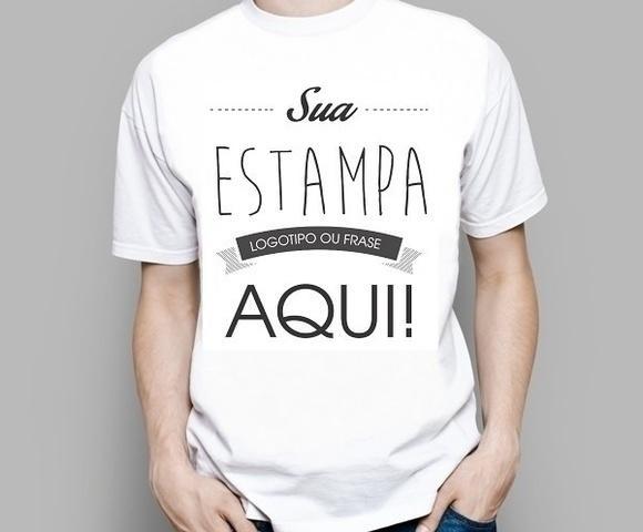 Camiseta personalizada sua foto ou logo