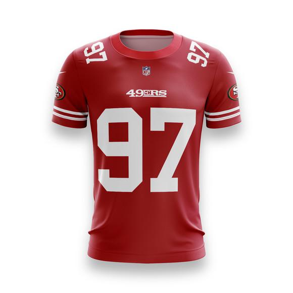 Camiseta san francisco 49ers nfl futebol americano