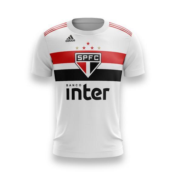 Camiseta são paulo futebol infantil personalizada