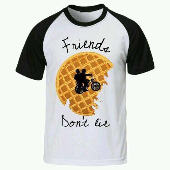 Camiseta stranger things raglan