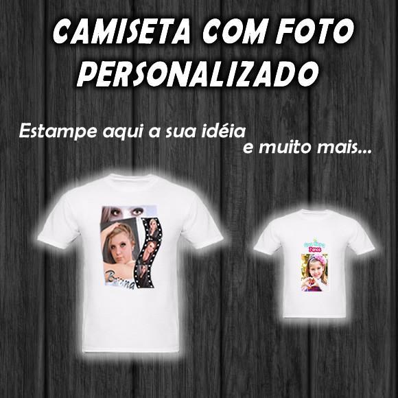 Camiseta com foto personalizada