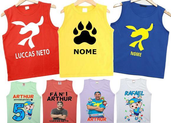 Camiseta fregata infantil personalizada luccas neto foca