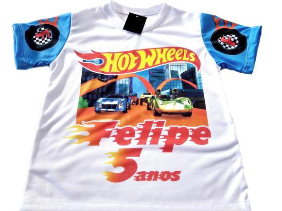 Camiseta infantil Hot Wheels personalizada