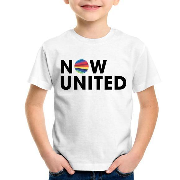 Camiseta infantil now united