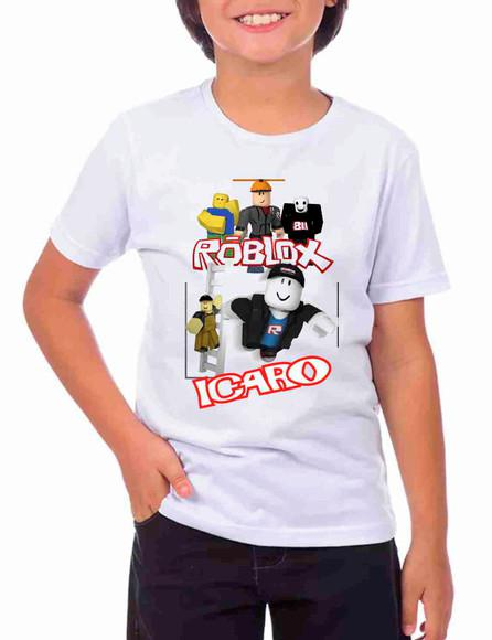 Camiseta infantil roblox personalizada