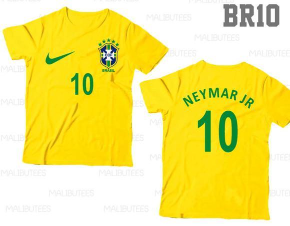 Camiseta infantil seleção brasil neymar personalizada c