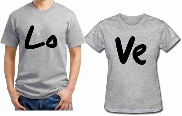 Camisetas love - casal namorados