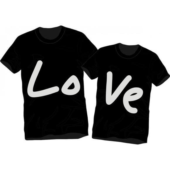 Camisetas namorados amor love casal kit com 2 camisetas