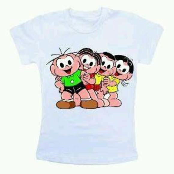 Camisetas turma da monica