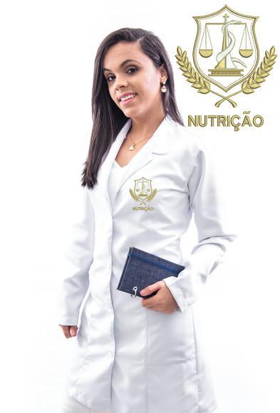 Jaleco nutrição em gabardine, feminino, alta costura-luxo