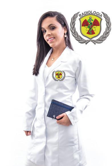 Jaleco radiologia em gabardine, feminino, alta costura-luxo