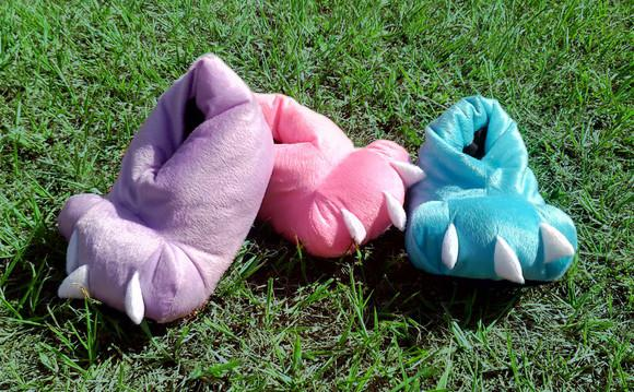 Pantufa de monstro - frio - colorido adulto e infantil