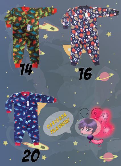 Pijama macacão soft tamanhos 12, 14 e 16