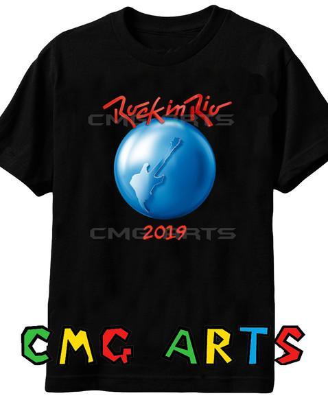 Camiseta rock in rio 2019 100% algodão