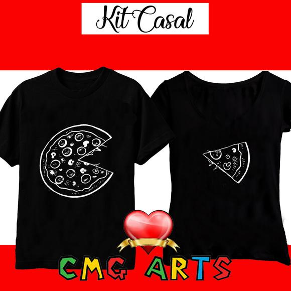 Kit camisetas casal de namorados. 2 unds