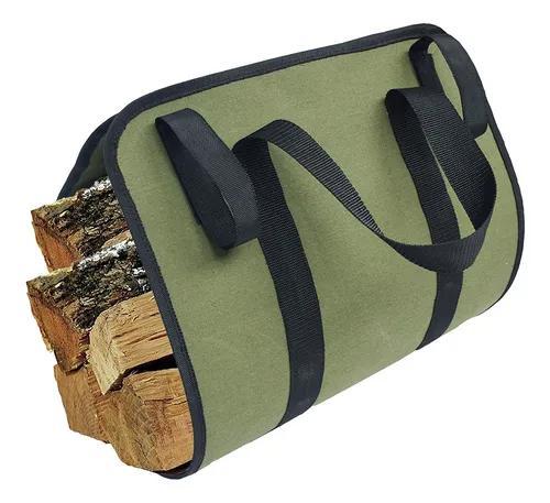 Bolsa de transporte de madeira de lona, sacola durável, fog