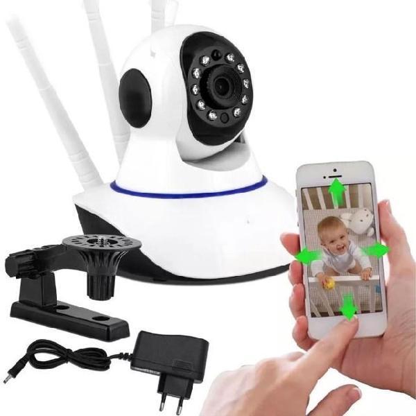Camera baba eletronica wifi ip com 3 antenas sem fio