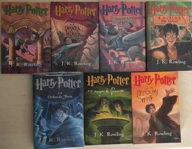 Coleção completa de livros harry potter