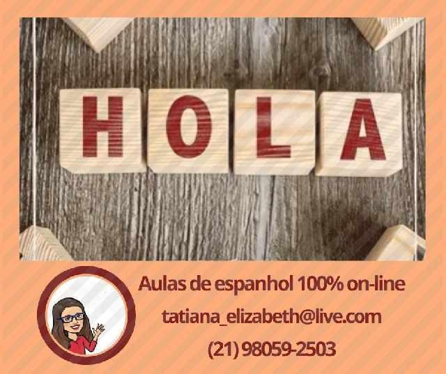 Espanhol on-line com professora nativa