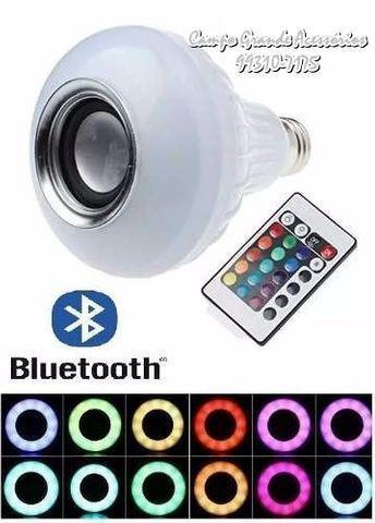 Exelente lampada led music controle remoto (16 cores)