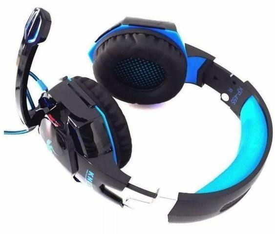 Fone ouvido headset gamer pc adaptador celular ps4 kp 455