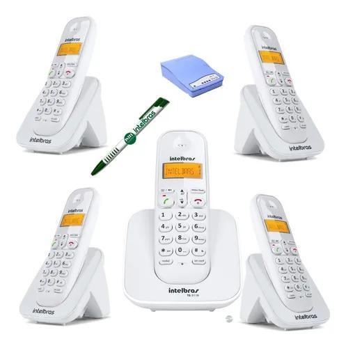 Kit aparelho telefone bina 4 ramal entrada chip celular 3g
