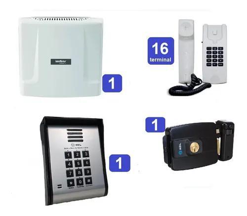 Kit central de interfone condomínio 16 ramais comunic 16