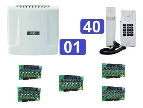 Kit central de interfone condomínio com 40 terminais hdl
