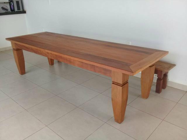 Mesa de madeira (leia o anuncio)