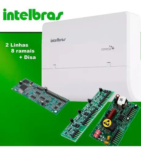 Micro central pabx intelbras conecta mais 2 linha 8 r + disa