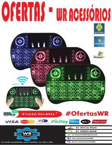 Mini teclado wireless com led + brinde e entrega grátis