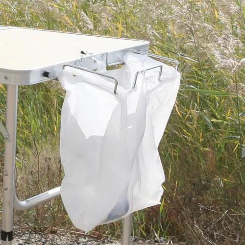 Portátil metal lixo saco portátil para bbq picnic home