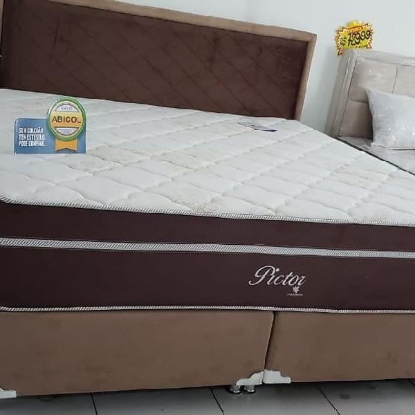 Promoçao cama box + colchao montreal pictor queen 158x198 a