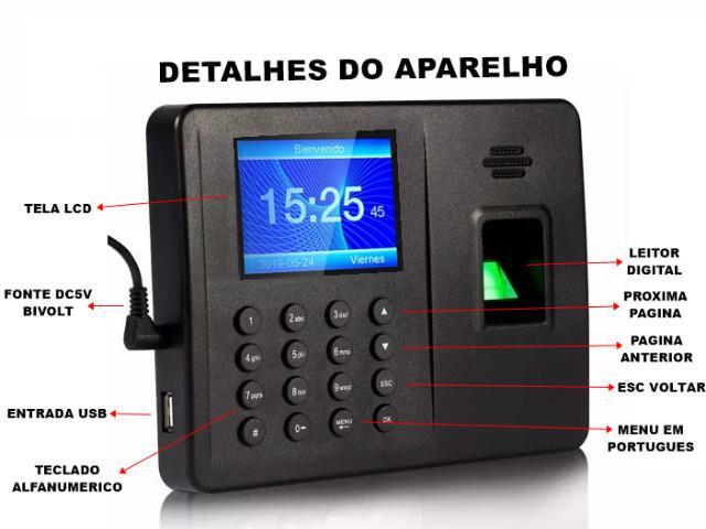 Relógio de ponto com leitor biometria digital 600