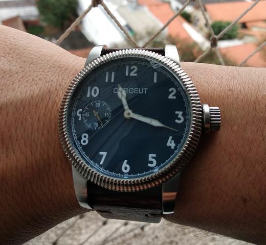 Relógio mecânico estilo piloto segunda guerra