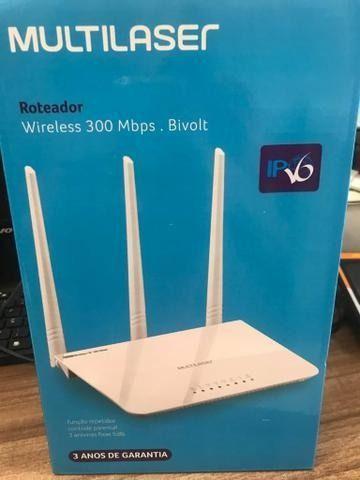 Roteador tres antenas branco ipv6 300 mbps