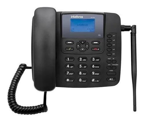 Telefone celular rural de mesa 3g intelbras cfa 6041 antena