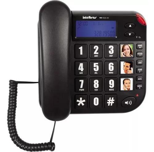 Telefone com fio tok facil com id intelbras