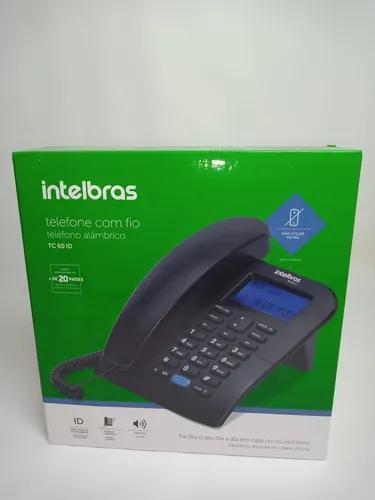 Telefone intelbras tc60 id preto