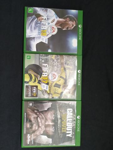 Três jogos xbox one