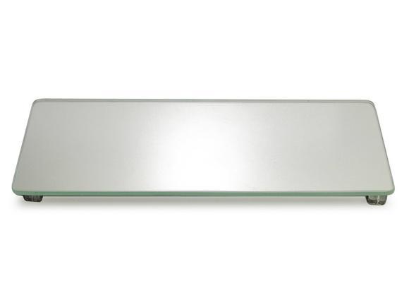 Bandeja vidro espelhado suporte lavabo banheiro c/ pés