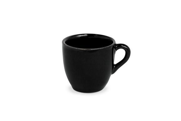 Conjunto c/ 6 pçs xícara p/ café preta conica s/ pires