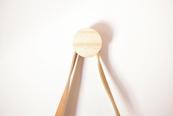 Cabideiro circular p 5cm: gancho geométrico madeira pinus