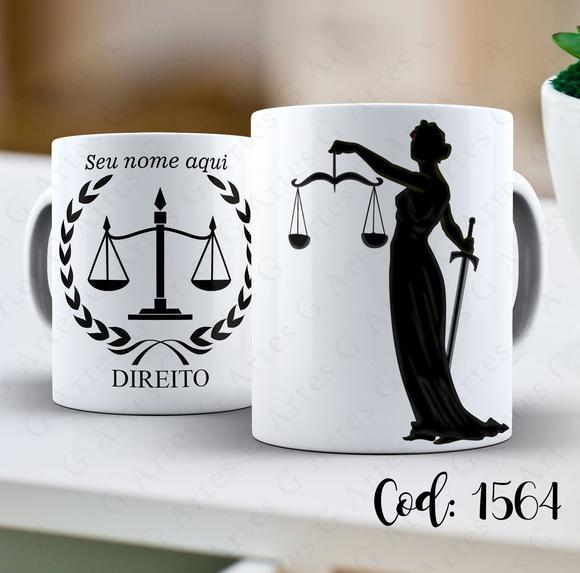 Caneca Direito Personalizada/Nome -1564