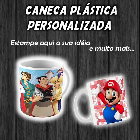 Caneca plástica personalizada